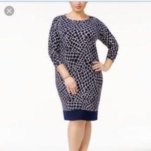 Michael Kors Plus Size Printed Sheath Dress